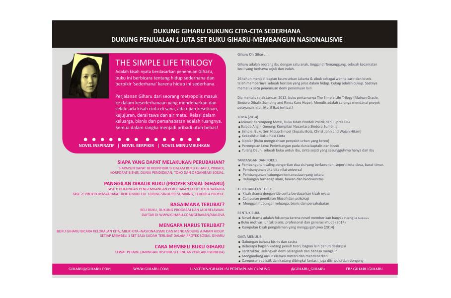Brosur Tentang Giharu (Indonesia)