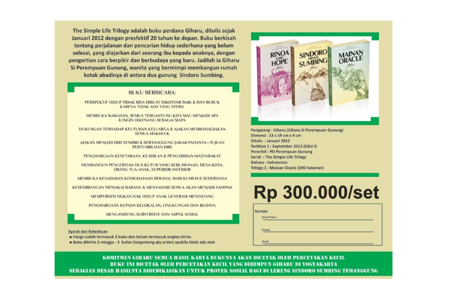 Brosur Trilogi Hidup Sederhana (Indonesia)